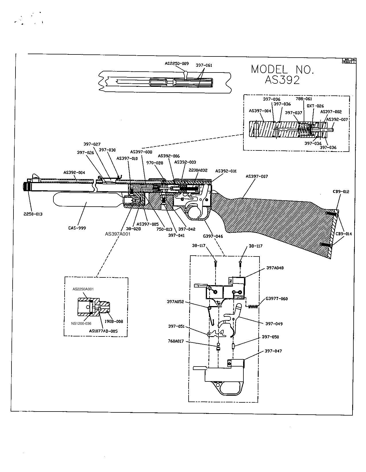 Benjamin AS392 & AS392T Buccaneer - Bagnall and Kirkwood Airgun Spares