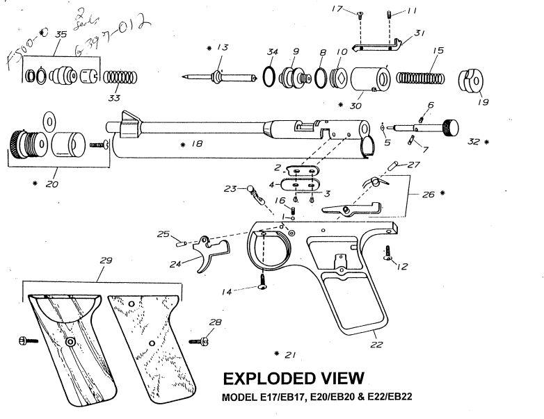 Benjamin E22 Eb22 Bagnall And Kirkwood Airgun Spares