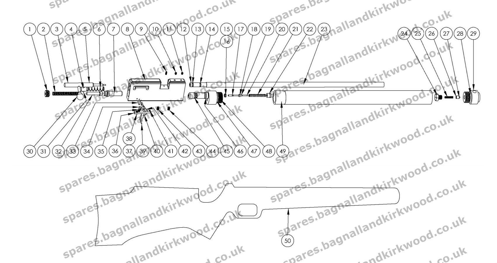 FX Typhoon / T1 - Bagnall and Kirkwood Airgun Spares