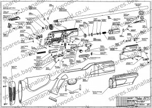 Hammerli-850-Airmagnum-Air-Rifle-Exploded-Parts-Sheet-Diagram