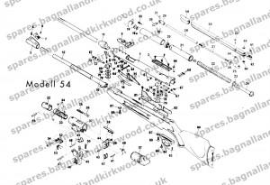 Diana Original RWS mod 54 Exploded Parts Diagram