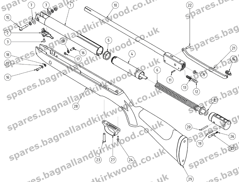 Rifle Parts Diagram