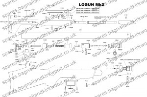 Logun Mk2 Professional Exploded Parts List Diagram
