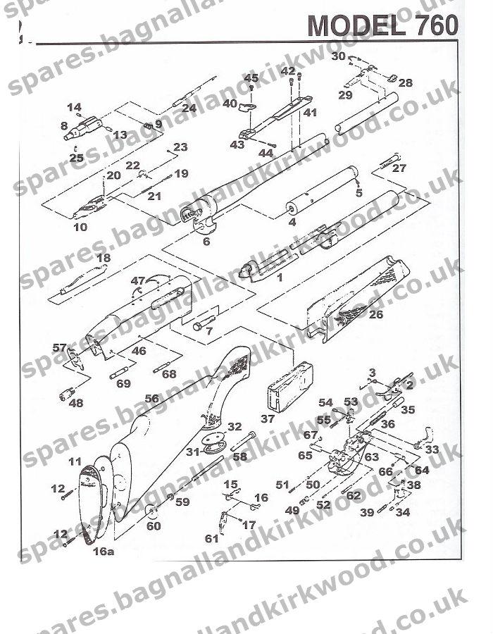 Gun Shop Gun Parts O Remington 7600 Schematic Parts List