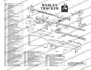 Webley Tracker Air Rifle Exploded Parts Diagram