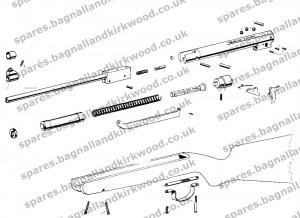 Webley Victor Air Rifle Exploded Parts Diagram