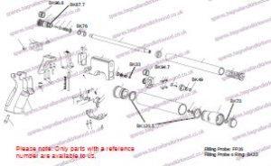 PI7 Air Pistol Exploded parts Diagram