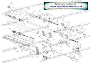 SMK P15 Air Rifle Exploded parts Diagram