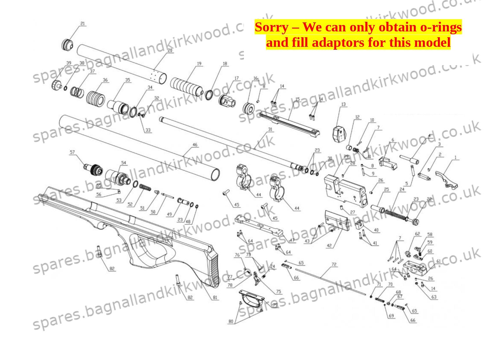 Diana Skyhawk SMK ARTEMIS P10 P15 10 x Free Orings