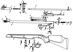 Mrod Air Airmax Varmint Air Rifle Exploded Parts Sheet Diagram