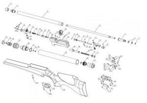 """Artemis M16 - Bagnall and Kirkwood Airgun Spares on m16a1 schematic, stun gun schematic, b3 schematic, sks schematic, mp5k schematic, g3 schematic, m21 schematic, uzi schematic, m79 schematic, fal schematic, enfield schematic, shotgun schematic, m 16"""" rifle schematic, m14 schematic, m249 schematic, ak-47 schematic, m4 schematic, pistol schematic, m60 schematic,"""