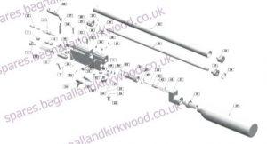 Webley En4cer Breaker Air Rifle Exploded Parts List Diagram A