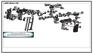 Umarex Walther P38 Air Pistol Exploded Parts List Diagram