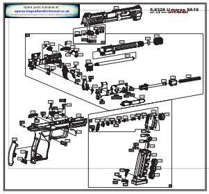 Air Pistol Exploded Parts List Diagram A